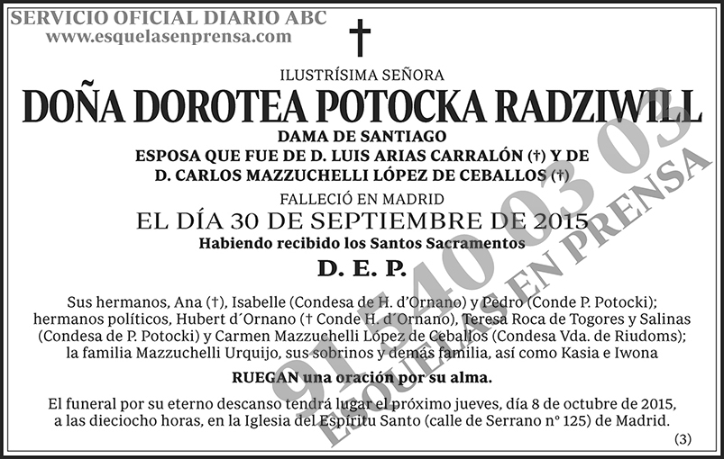 Dorotea Potocka Radziwill
